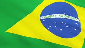 3d Render of a Brazial flag Stock Photography