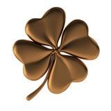 3d render of bronze clover. On white Stock Images