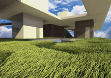 3d render building system. Show a new configuration of building type Stock Photography