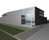 3d render of Business center Royalty Free Stock Image