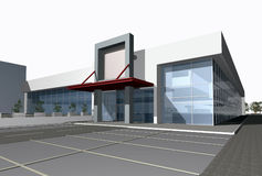 3D render of  business center Stock Image
