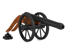3d render of cannon Royalty Free Stock Photography