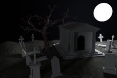 3d render of cemetery Stock Photo