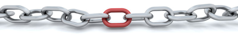 3d render of a chain Royalty Free Stock Images