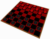 3d Render of a Checkers Game Stock Images