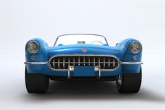 A 3D render of a Chevrolet Corvette 1957. Scene of legendary car without decor Stock Photos