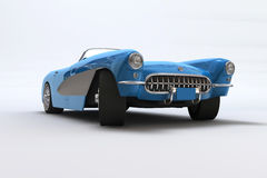 A 3D render of a Chevrolet Corvette 1957. Scene of the legendary car without decor Royalty Free Stock Image