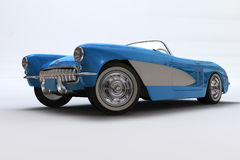 A 3D render of a Chevrolet Corvette 1957 Royalty Free Stock Image