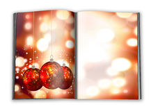 3d render christmas notebook. On a white background Stock Image