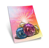 3d render christmas notebook. On a white background Royalty Free Stock Photography