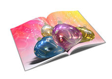 3d render christmas notebook. On a white background Stock Images
