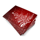 3d render christmas notebook. On a white background Royalty Free Stock Images