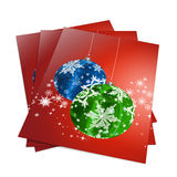 3d render christmas notebook. On a white background Stock Photos