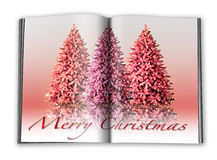 3d render christmas notebook. On a white background Royalty Free Stock Image
