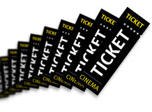 3D render of cinema tickets Royalty Free Stock Photography