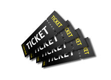 3D render of cinema tickets Stock Photo