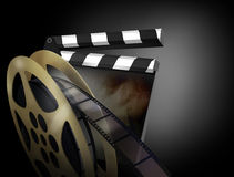 3D render of a clapper board Royalty Free Stock Photo