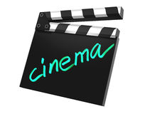 3D render of a clapper board. 3d illustration on white background Royalty Free Stock Photos