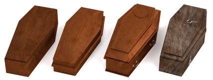 3d render of coffins Royalty Free Stock Images