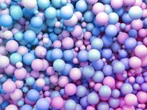Free 3d Render, Colorful Pastel Balls, Abstract Background Royalty Free Stock Photos - 144211838