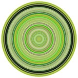 3d render concentric pipes in green colors Stock Image