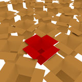 3d Render Concept of Standing out from the Crowd Stock Photos