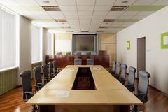3D render of the conference hall Royalty Free Stock Photography