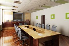 3D render of the conference hall Royalty Free Stock Image