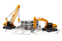 3d render of construction concept Royalty Free Stock Photos