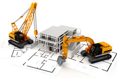 3d render of construction concept Stock Photography