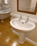 3d render of contemporary bathroom. Interior Stock Photo