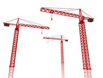 3D Render of cranes Stock Images