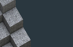 3d render of cubical mosaic cube surface Royalty Free Stock Photography