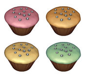 3d render of cup-cake on white Stock Image