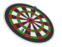 3D render of darts and board Royalty Free Stock Photos