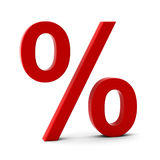 3d render of discount sign. 3d render of red discount sign Stock Illustration