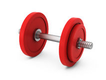 3d render of dumbbell on white Stock Photos