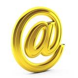 3d render of  e mail on white. 3d render of gold e mail on white Stock Illustration