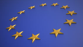 3D render of the EU flag Stock Photos