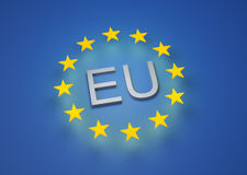 3D render of the EU flag Royalty Free Stock Photography