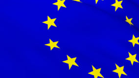 3d Render of the European flag. Highly Detailed 3d Render of the European flag 3 royalty free illustration