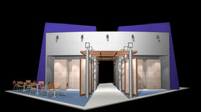 3D render of exhibition stand Stock Photography