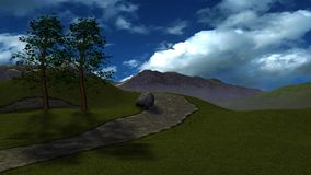 3D Render Fantasy Hills Royalty Free Stock Photos