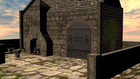 3D Render Fantasy Smithy Royalty Free Stock Images