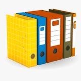 3d render of files Stock Image