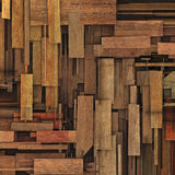 3d render fragmented wood timber plank backdrop Royalty Free Stock Photos