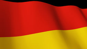 3d Render of the German flag Royalty Free Stock Images