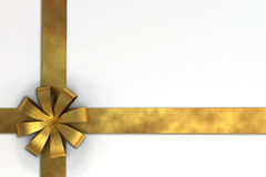 A 3D render of gift ribbon Stock Image