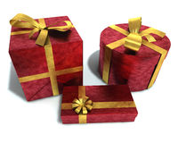 A 3D render of gifts Stock Photos