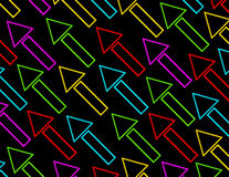 3d Render Glowing Arrows Background. On black Stock Images